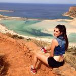 Balos beach dall'alto