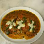 Vitello Verbena, Veal cooked in white wine, butter, touch of tomato sauce and topped with mozzar