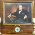 Churchill on the wall...