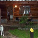 el frente de nuestra cabaña