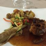 veau aux rattes du touquet et petits légumes