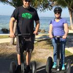 Taking a break on the Segway