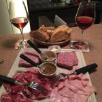 Fleur de Liz rosé wine with a charcuterie platter. Absolutely recommend both!