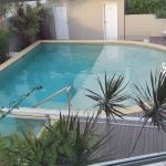 View of the smaller pool from our room