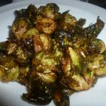 Perfectly crispy roasted Brussels Sprouts done in the oven with EVOO