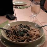 spaghetti + spinach