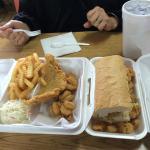 catfish fillet & shrimp - shrimp po'boy