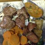 lamb chops with hunter sauce