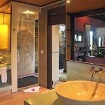 the bathroom with the moderb style