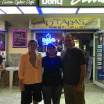 Outside D'tapas with the owner, Deli.
