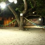 Night view of our bungalow