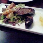 Boudin Noir' grilled prawns