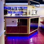 Beautiful mirrored bar area