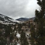 Overlook view from hilltop behind the resort