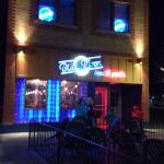 Blue Moon Bar and Grille at night