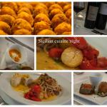 Dishes from our Sicilian cuisine night