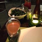 Beilage Fredi Leaf Spinach (Blattspinat) und Cognac-Pfeffersouce