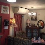 A mini 1940s Lounge area, that seats three people within the Tea Palour...