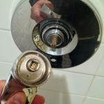 Oops shower handle came off