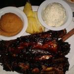 Beef Ribs,Mashed Seet Potatoes,Potato Salad