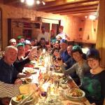 Christmas Dinner for 17 at Chalet Etrule