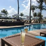 Mambo Bar, Siloso Beach, Sentosa, with a Pina Colada.