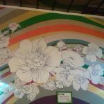 Una de las paredes coloridas