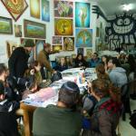 live art workshop at Yomtov's gallery