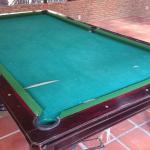 Broken billiards table