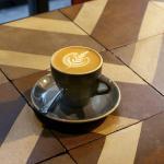 Amazing chevron tables and latte art