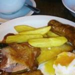 Picture of my all day brekkie - yep, there were chips too!!