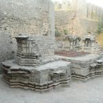 Ruins of a temple inside the fort