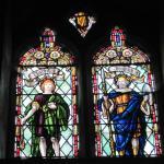 David & Joshua windows in the tower