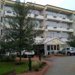 Hoteleingang zum Strandhotel