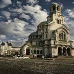 Cathedral Saint Alexander Nevsky and National Gallery for Foreign Art behind