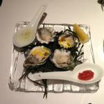 Oysters with smoked trout roe!