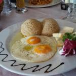 Polenta con uova e zola
