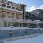 Winter swimming in opendoor pool