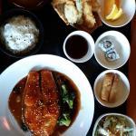 Salmon set menu, $22 (dinner option)