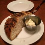 The garlic and herb crusted bread