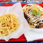 1/2 nacho 1/2 meat fries