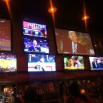 Excellent sports bar with tons of tv's for different games