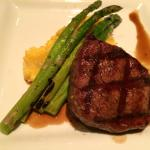 Filet Mignon with Grilled Asparagus & Polenta