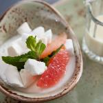 Lemon Snow Pudding with Grapefruit