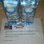 Free complimentary water...