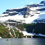 Canoeing on Cameron Lake