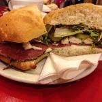 Special of pastrami, chicken, cheese ,Mayo etc VG