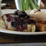 Upside-down Blueberry Pancake Wedge