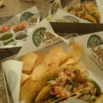 Steak'n Cheese Tacos + many of the free side sauces + guacamole