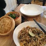 BBQ Chicken Dim Sum and Pad Thai